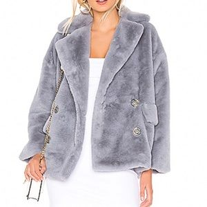 NWT Free People Solid Kate  Faux Fur Coat